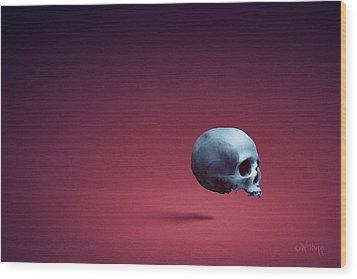 Blue Shell Wood Print by Joseph Westrupp