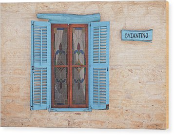 Blue Shutters Wood Print by Jeremy Voisey