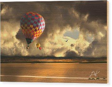 Blue Skies Ahead Wood Print