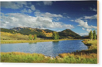 Wood Print featuring the photograph Blue Skies Over Crested Butte by John De Bord