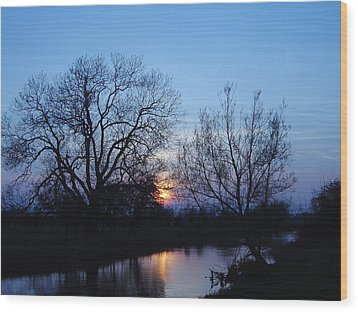 Wood Print featuring the photograph Blue Sky by Elizabeth Lock