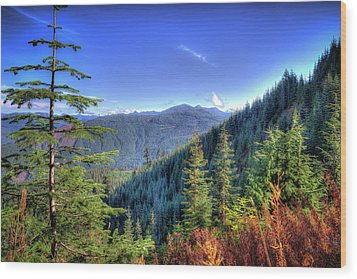 Wood Print featuring the photograph Blue Skykomish by Spencer McDonald