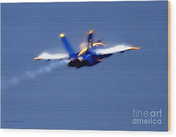 Wood Print featuring the photograph Blue Solo by Larry Keahey
