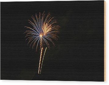 Wood Print featuring the photograph Blue Star When I Am Blue by Larry Bishop