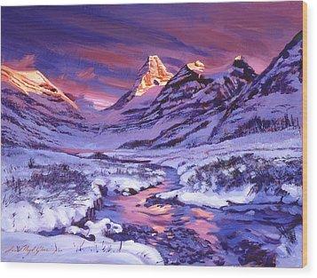 Blue Sunrise Wood Print by David Lloyd Glover