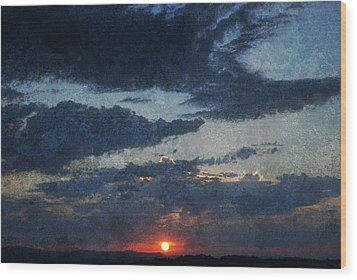 Blue Sunset Wood Print by Dorothy Berry-Lound
