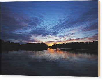 Blue Sunset Wood Print by Ty Helbach