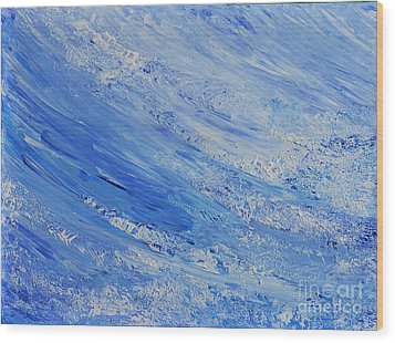 Wood Print featuring the painting Blue by Teresa Wegrzyn