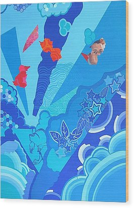 Blue That Surrounds Me Wood Print by Takayuki  Shimada