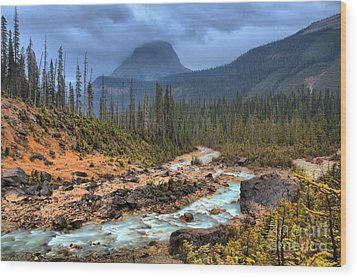 Wood Print featuring the photograph Blue Through The Yoho Valley by Adam Jewell