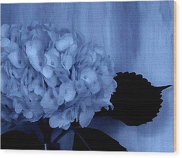 Blue Tint Hydrangea Wood Print by Marsha Heiken