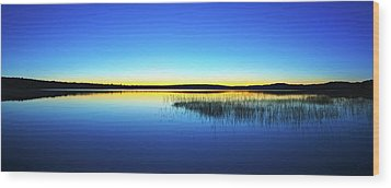 Wood Print featuring the photograph Blue Twilight 1 by ABeautifulSky Photography