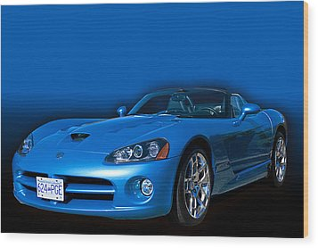 Blue Viper Wood Print by Jim  Hatch