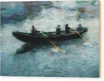 Blue Water Wood Print by Declan O'Doherty