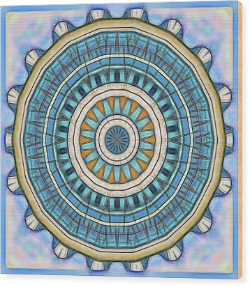 Wood Print featuring the digital art Blue Wheeler 1 by Wendy J St Christopher