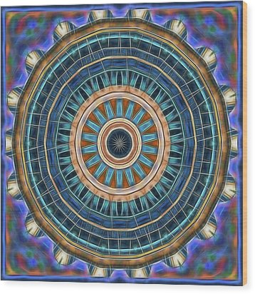 Wood Print featuring the digital art Blue Wheeler 2 by Wendy J St Christopher