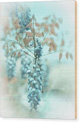 Blue Wisteria Wood Print by Angela A Stanton