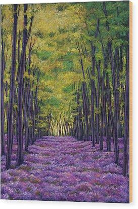 Bluebell Vista Wood Print by Johnathan Harris