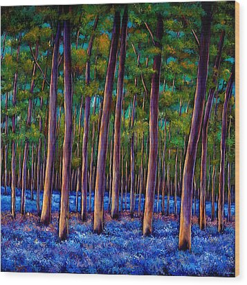 Bluebell Wood Wood Print by Johnathan Harris