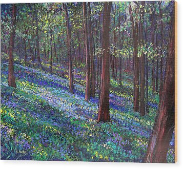 Bluebell Woods Wood Print