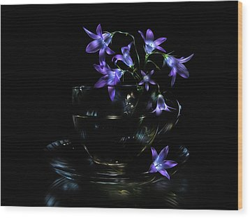 Wood Print featuring the photograph Bluebells by Alexey Kljatov