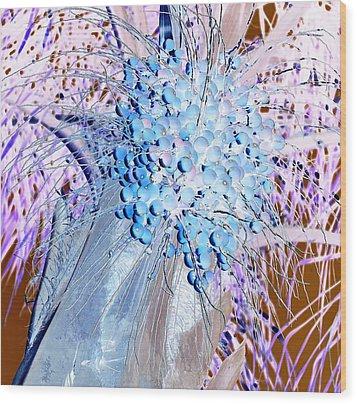 J-lintz - Blueberries Wood Print