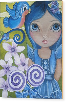 Blueberry Wood Print by Jaz Higgins