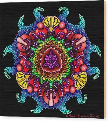 Blueberryflower Wood Print