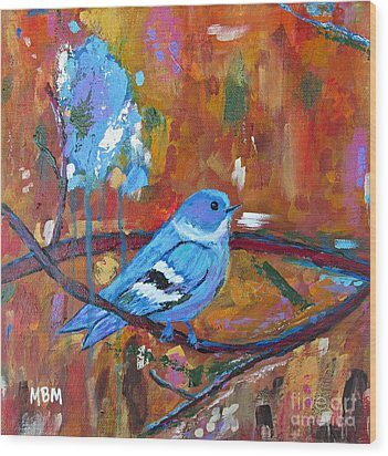 Bluebird In Autumn Wood Print