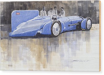 Bluebird World Land Speed Record Car 1931 Wood Print by Yuriy  Shevchuk