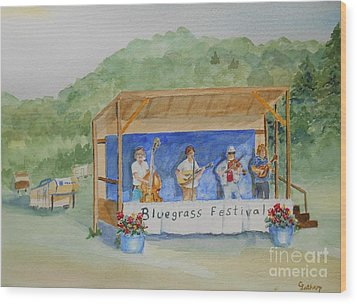Bluegrass Festival Wood Print by Christine Lathrop
