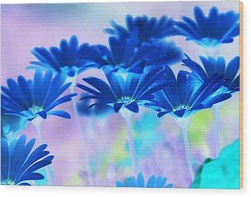 Bluemination Wood Print