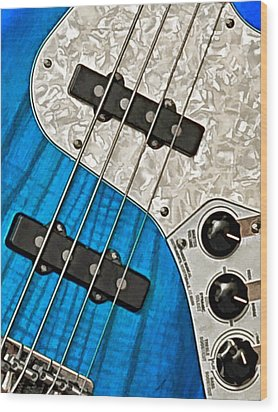 Blues Bass Wood Print by William Jobes