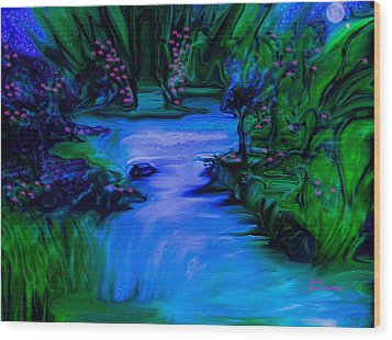 Blues In The Night Wood Print