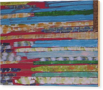 Blues In Transition Wood Print by Russell Simmons