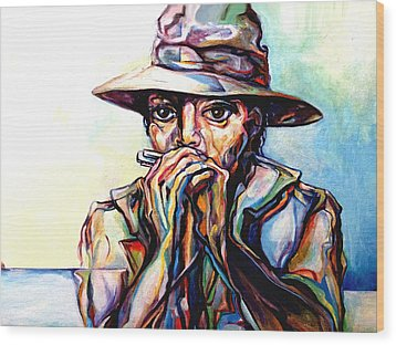 Blues Traveler  Wood Print by Lloyd DeBerry