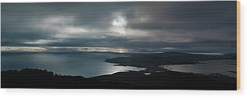 Bluff Panorama Wood Print