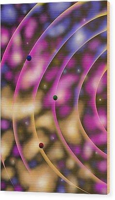 Blurred Lines 02 - Nebulaic Vibrations Wood Print