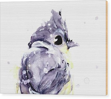 Wood Print featuring the painting Blustery by Dawn Derman