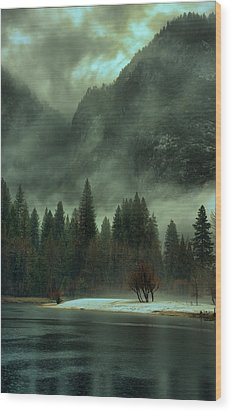 Blustery Yosemite Wood Print