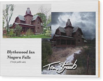 Blythewood Inn Wood Print by Tom Straub