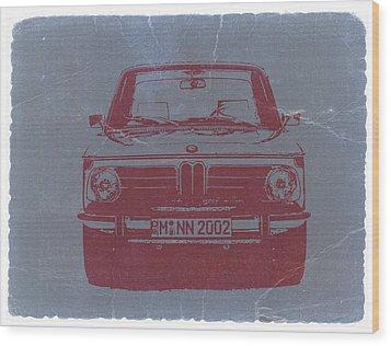 Bmw 2002 Wood Print by Naxart Studio