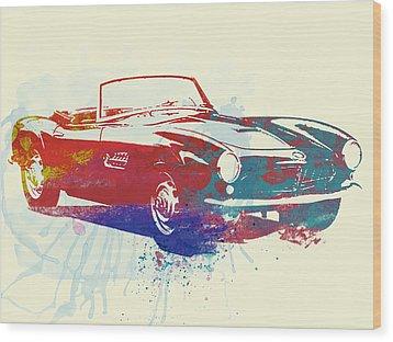 Bmw 507 Wood Print by Naxart Studio