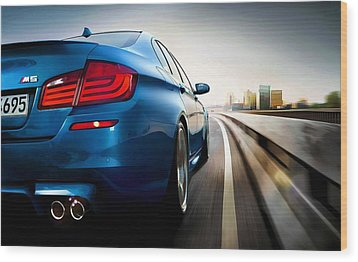 BMW Wood Print by Lanjee Chee