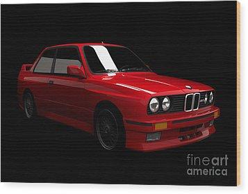 Bmw M3 E30 Wood Print