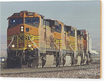 Bnsf Freight Train Wood Print by Richard R Hansen and Photo Researchers