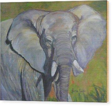 Bo Bo The Elephant Wood Print