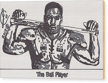 Bo Jackson The Ball Player Wood Print by Jeremiah Colley