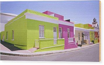 Bo Kaap Color Wood Print by Shaun Higson