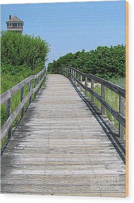 Boardwalk Wood Print by Colleen Kammerer